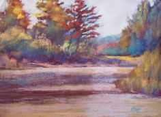 Platte River Bend  11x14 Pastel on Canson Touch