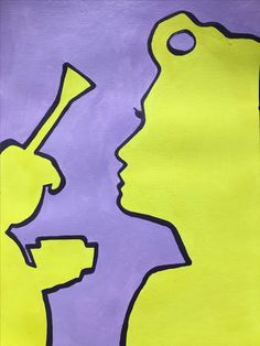 #art #springcolours #lilac #yellow #colour #silouette #powderandpaint