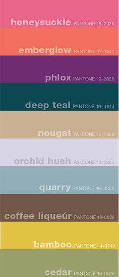 fall 2011 pantone colors