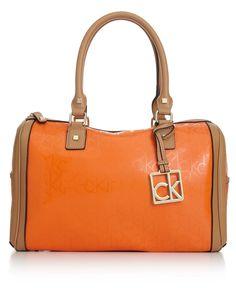 Top Trends from #NYFW: Subtle Color Blocking CALVIN KLEIN handbag l Macy's