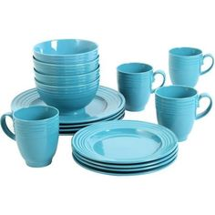 $76   16-piece Dinnerware Set Turquoise These Elegant Dishes Offer the Perfect Way to Make Everyday Meals Feel Special. Gibson Home http://www.amazon.com/dp/B015TL49TM/ref=cm_sw_r_pi_dp_rLwQwb0V2QWVY
