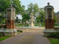 Harrison Plaza at the University of North Alabama in Florence. The school was chartered as LaGrange College by the Alabama Legislature in Great Places, Places Ive Been, Florence Alabama, Life After High School, Southern Mansions, Roaring Lion, Living In La, Sweet Home Alabama, Down South