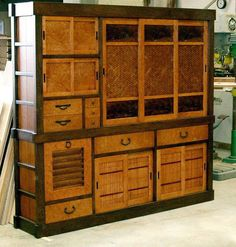 Storage Tansu put together with no screws or glue. A marvel of woodworking