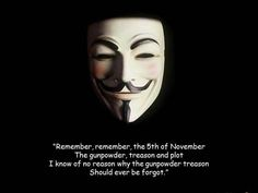 Remember Remember Guy Fawkes surrendered on the 5th of #November.