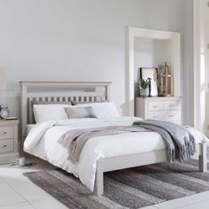 Add a touch of timeless style to your bedroom with the Bambury Bed Frame in soft stone.