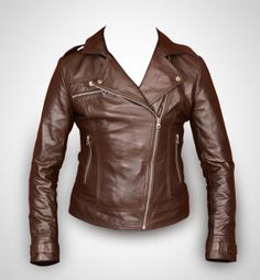 Brown biker Leather jacket reserved for Chris by Rubyleather, $99.00