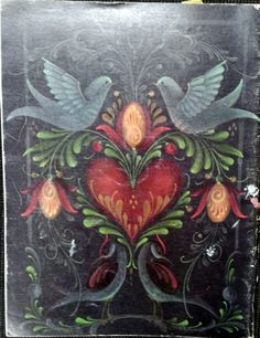 folk painting ~ a design from one of Jo Sonja's books.