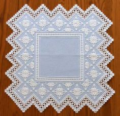 """Pattern found in """"What's New in Blue"""" by Vaughnie Olivieri. Available at Nordic Needle. Love the gorgeous wedgewood blue color."""