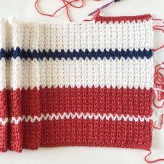 Crochet Patterns Modern Crochet Modern V-Stitch Blanket in Red, White and Blue Pattern Crochet Afghans, Crochet Blanket Patterns, Baby Blanket Crochet, Crochet Stitches, Crochet Blankets, Chevron Blanket, Blue Blanket, Bead Crochet, Free Crochet