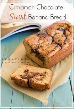 Cinnamon Chocolate Swirl Banana Bread + The Paleo Kitchen