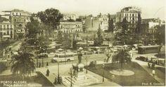 Praça da Alfândega, início da década de 1930.