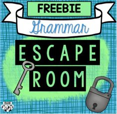 Grammar Escape Room Sample - My best education list Middle School Grammar, Middle School Writing, Middle School English, Middle School Classroom, English Classroom, Grade 8 Classroom, 9th Grade English, Classroom Ideas, Grammar Games