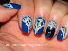 Delight in Nails: Nail-Aween Nail Art Challenge - Spider Nail Art