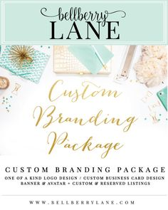 Custom Branding Package - Custom logo, Etsy banner and avatar, Business card, custom listing, reserved listing - Custom to fit your business by BellberryLane on Etsy https://www.etsy.com/listing/278372362/custom-branding-package-custom-logo-etsy