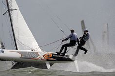 F18 Worlds Knokke 8 Vincent Huntelman & Herwin van der Kamp  Team Magic Marine