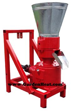 Make wood pellets or feed pellets at home or on the farm with this D230 PTO pellet mill powered with your tractor
