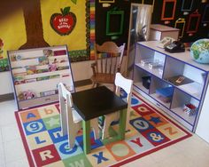Dramatic Play (School) ~Set up a school in your dramatic play area complete with a desk for the teacher, papers, pens, etc.