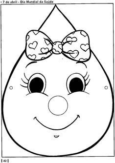 Máscaras de gotinha, gota da vacinação, saúde - ESPAÇO EDUCAR