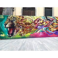 "Detail of ""BLOOD BROTHERS"" #faridrueda #jaguar #balam #street #streetart #graffiti #arteurbano by farid_rueda"