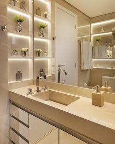"1,911 curtidas, 23 comentários - Monise Rosa Arquitetura (@moniserosaarquitetura) no Instagram: ""By @moniserosaarquitetura @marianaorsifotografia #banheiro #luxury #bathroom #salledebain…"""