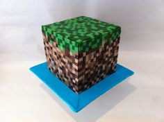 This simple modern Minecraft cake is inspirational.