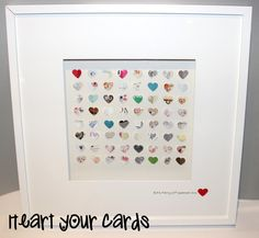 Framed Wedding Card Keepsake, Customize your wedding cards by heartyourcards on Etsy