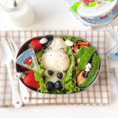 The Laughing Cow Bento | Little Miss Bento