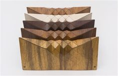Tesler+ Mendelovitc's clutches are all about wooden textiles! Designed by Orli Tesler and Itamar Mendelovitch.