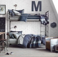 industrial bunk bed + space age accents. #rhbabyandchild