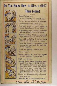 How to Kiss a Girl - 1911