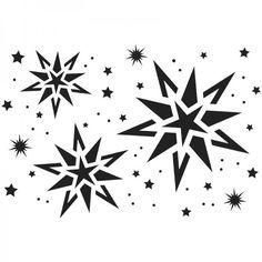 Fenster-Kunststoff-Schablone, Din A4, Sternenhimmel