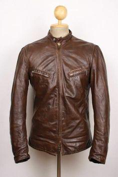 Vtg 60s SCHOTT PERFECTO Cafe Racer Steerhide Leather Jacket MOTORCYCLE 38