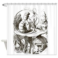 CafePress  Alice in Wonderland Caterpillar Shower Curtain  Decorative Fabric Shower Curtain * Check this awesome product by going to the link at the image.