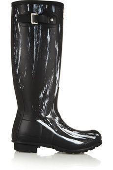 Hunter Printed Tall Wellington boots  | NET-A-PORTER