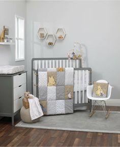 Shop for winnie the pooh crib bedding at buybuy BABY. Buy top selling products like Disney Winnie The Pooh Hunny & Me Crib Bedding Set in Grey and Disney® Winnie the Pooh First Best Friends Crib Bedding Set in Aqua. Winnie The Pooh Nursery, Disney Nursery, Baby Disney, Disney Baby Rooms, Disney Baby Bedding, Crib Sets, Crib Bedding Sets, Dorm Bedding, Comforter Sets