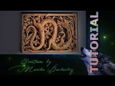 TUTORIAL Imitation wooden openwork carving Dragon - YouTube