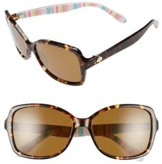 b14ee7b498 Women s Kate Spade New York  Ayleen  56Mm Polarized Sunglasses - Havana   Multi Pattern