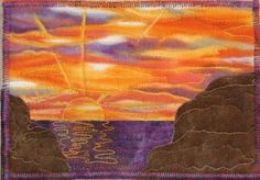 This is a beautiful sunset postcard made by Gwen Gwinner of Ohio.