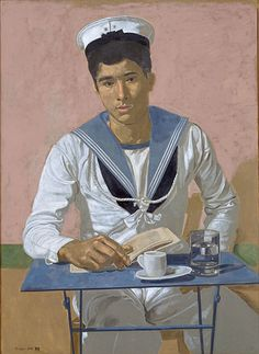 Yannis Tsarouchis was a Greek painter. He filled his canvases with images of vulnerable men and (to a much lesser extent) strong women. Comics Illustration, Illustrations, Portrait Art, Portraits, Painter Artist, Greek Art, Gay Art, Henri Matisse, Caravaggio