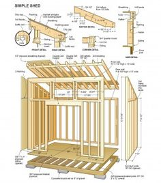 #shed #backyardshed #shedplans Outdoor Shed Plans Free
