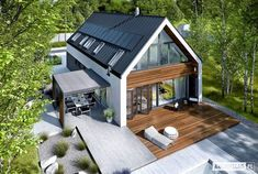 Projekt domu EX 19 G2 ENERGO PLUS - widok z góry