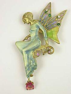 Art Nouveau 1910 Fairy Brooch, PN-2360