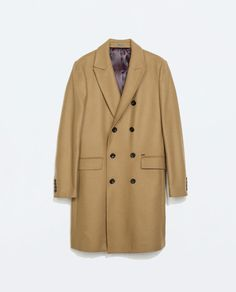 ZARA - MAN - DOUBLE-BREASTED CAMEL COAT