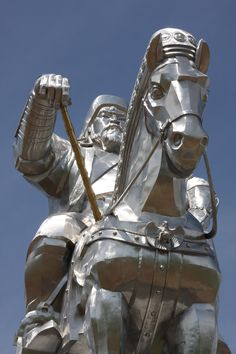 Genghis Khan, Mongolia. - reminds of a motorcycle rider... can't you see the handle bars