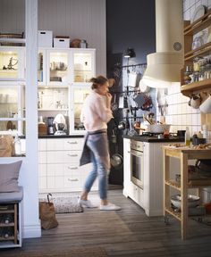 I love this kitchen from the IKEA 2016 catalog. It's so textured, and I love how much it feels like a room with furniture rather than a flat bank of bland built-ins.(via Decorablog)
