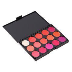 New Professional 15 cores de batom Set maquiagem cosméticos Lip Gloss Palette atacado alishoppbrasil