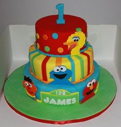 sesame street cake ideas for Anna's baby shower