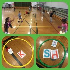 Focus: S1.E13.K - throws underhand with opposing foot forward. Bonus: word spelling...3 catches w/out a miss = a letter. #physed