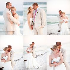Beach wedding pictures   Pensacola Beach wedding