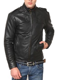 Men,s Celebrity Genuine Lambskin Boys Rider Jacket slim fit Biker A86 #AriesLeathers #Motorcycle